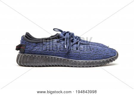Casual Unisex Sport Shoes Isolated On White Background