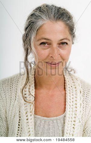 Mature Beautiful Real Woman with no makeup