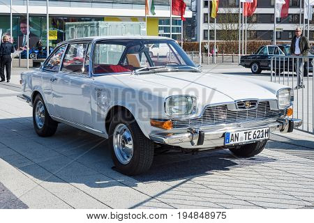 STUTTGART GERMANY - MARCH 18 2016: Vintage car BMW-Glas 3000-V8 1967 designed by Pietro Frua. Europe's greatest classic car exhibition