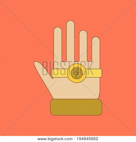 flat icon on stylish background Kids toy bracelet hand