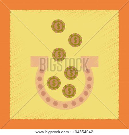 flat shading style icon poker good luck logo