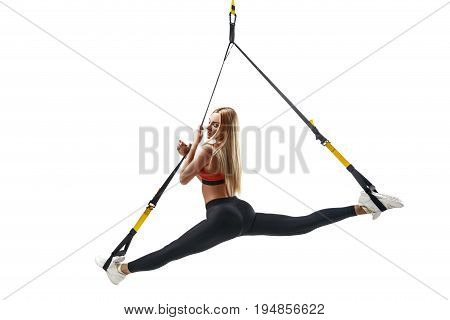 Woman Exercising With Trx