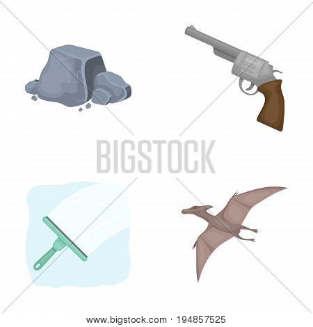 Mine, cleaning and other  icon in cartoon style.weapons, history icons in set collection.