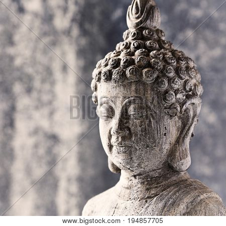 Gray Buddha Statue