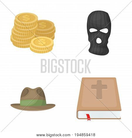 finance, clothing and other  icon in cartoon style.justice, religion icons in set collection.