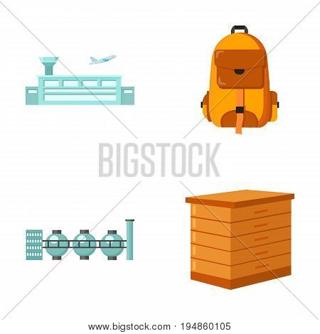 transport, oil refining and other  icon in cartoon style.tourism, beekeeping icons in set collection.