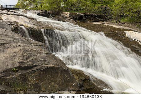Miller Creek Waterfall - A cascading waterfall.