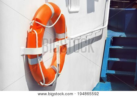 Flotation ring onboard the ship
