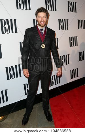 NASHVILLE, TN-NOV 3: Recording artist Brett Eldredge attends the 63rd annual BMI Country awards at BMI on November 3, 2015 in Nashville, Tennessee.