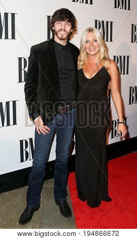 NASHVILLE, TN-NOV 3: Recording artist Chris Janson and wife Kelly Lynn attend the 63rd annual BMI Country awards at BMI on November 3, 2015 in Nashville, Tennessee.