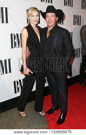 NASHVILLE, TN-NOV 3: Recording artist Clay Walker (R) and Jessica Craigh attend the 63rd annual BMI Country awards at BMI on November 3, 2015 in Nashville, Tennessee.