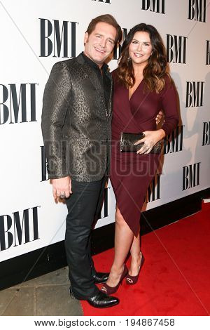 NASHVILLE, TN-NOV 3: Recording artist Jerrod Niemann (L) and wife Morgan Petek attend the 63rd annual BMI Country awards at BMI on November 3, 2015 in Nashville, Tennessee.