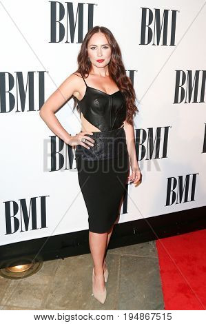 NASHVILLE, TN-NOV 3: Recording artist Hannah Blaylock attends the 63rd annual BMI Country awards at BMI on November 3, 2015 in Nashville, Tennessee.