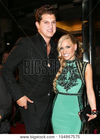 NASHVILLE, TN-NOV 3: Recording artist Jon Pardi (L) and guest attend the 63rd annual BMI Country awards at BMI on November 3, 2015 in Nashville, Tennessee.