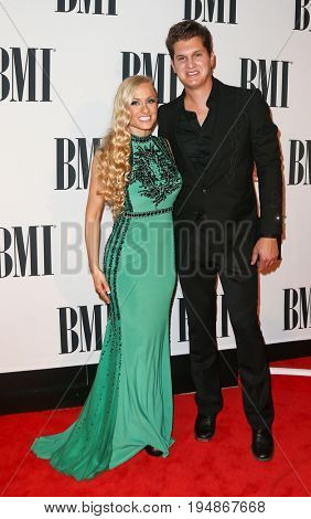NASHVILLE, TN-NOV 3: Recording artist Jon Pardi and guest attend the 63rd annual BMI Country awards at BMI on November 3, 2015 in Nashville, Tennessee.