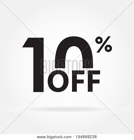 10% off. Sale and discount price sign or icon. Sales design template. Shopping and low price symbol. Vector illustration.