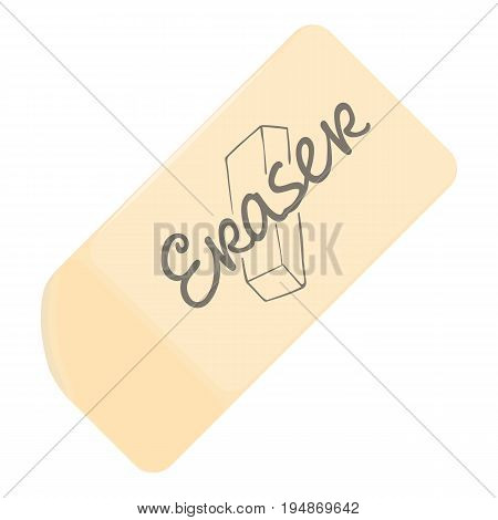 Eraser icon. Cartoon illustration of eraser vector icon for web isolated on white background