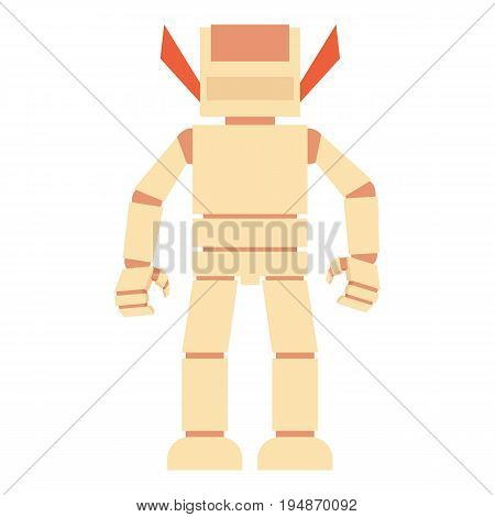 Humanoid robot icon. Cartoon illustration of humanoid robot vector icon for web isolated on white background