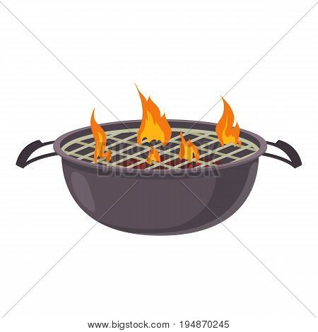 Barbecue icon. Cartoon illustration of barbecue vector icon for web isolated on white background