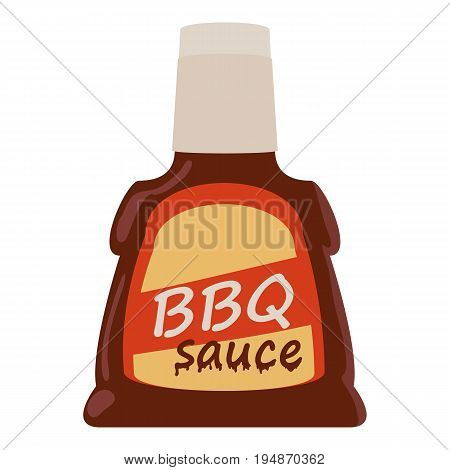 Barbecue sause icon. Cartoon illustration of barbecue sause vector icon for web isolated on white background