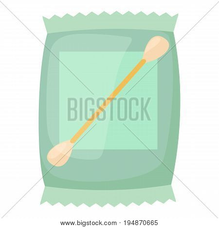 Cotton bud icon. Cartoon illustration of cotton bud vector icon for web isolated on white background