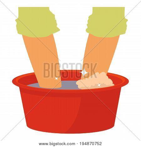 Washing in the basin icon. Cartoon illustration of washing in the basin vector icon for web isolated on white background