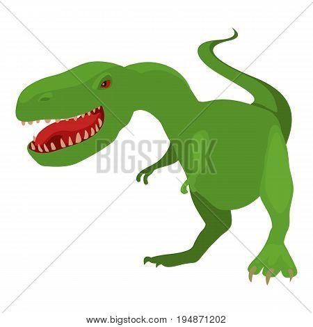 Dinosaur tyrannosaur icon. Cartoon illustration of dinosaur tyrannosaur vector icon for web isolated on white background