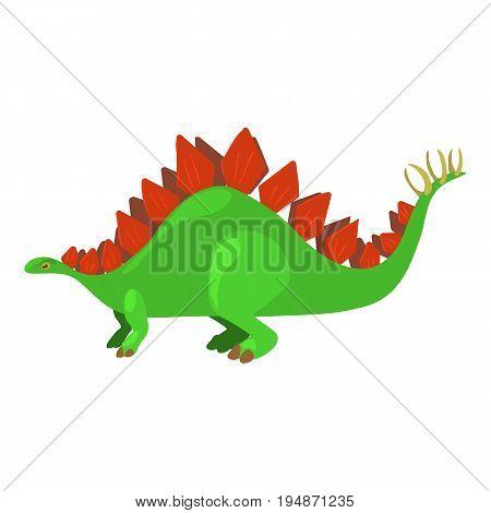 Stegosaurus icon. Cartoon illustration of stegosaurus vector icon for web isolated on white background