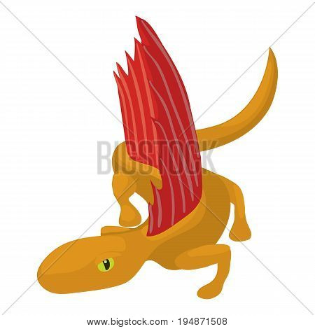 Dinosaur lizard icon. Cartoon illustration of dinosaur lizard vector icon for web isolated on white background