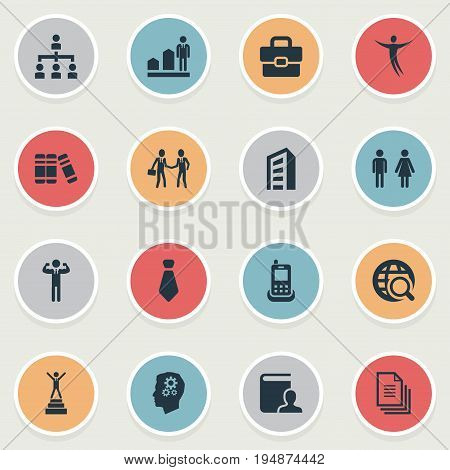 Vector Illustration Set Of Simple Resources Icons. Elements Happy, Team Lider, Winner And Other Synonyms Worker, Development And Engineering.
