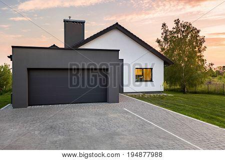 Stylish House With Garage