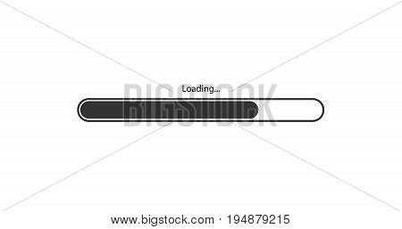 vector modern black loading bar on white background.