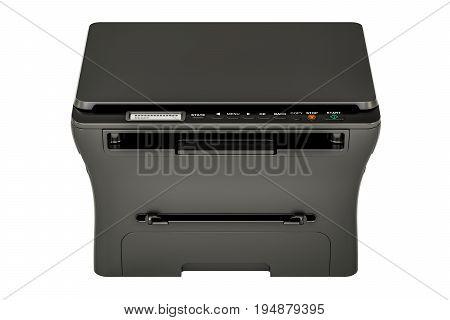 modern black multifunction printer MFP 3D rendering isolated on white background
