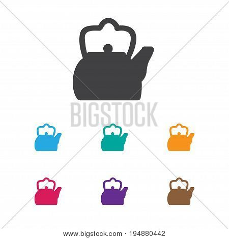 Vector Illustration Of Camping Symbol On Teapot Icon. Premium Quality Isolated Kettle Element In Trendy Flat Style.