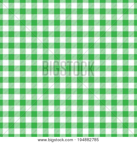 Lumberjack plaid pattern in green and black. Seamless vector pattern. Simple vintage textile design.