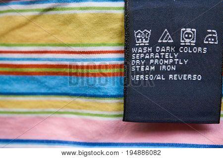 Bright Closeup Clothes Label