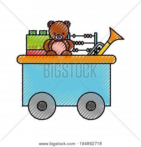 train wagon toy isolated icon vector illustration design
