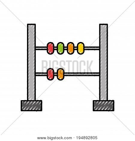 math abacus isolated icon vector illustration design