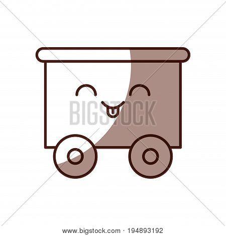 train wagon toy kawaii character vector illustration design