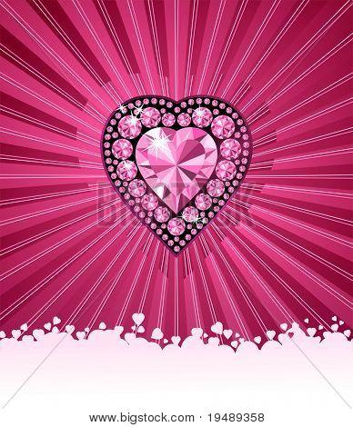 HART van liefde / hart Diamond / vector achtergrond met ruimte voor uw tekst