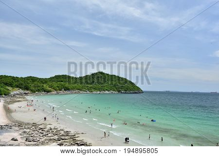view of Koh Si Chang island in ChonburiThailand
