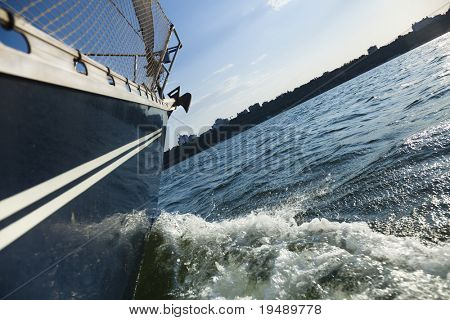 Sailing into the wind / sunlight / yachting