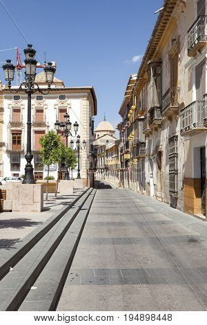 Street in the old town of Lorca. Province of Murcia Spain