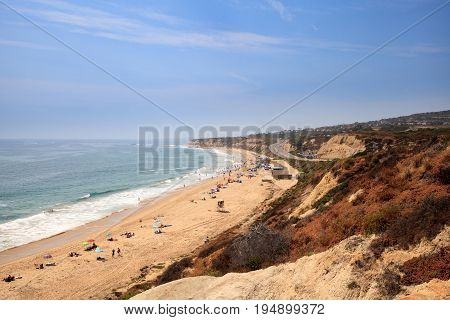 Blue Sky Over The Farthest South End Of Crystal Cove Beach
