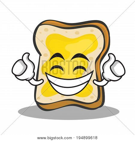 Proud face bread character cartoon vector illustration