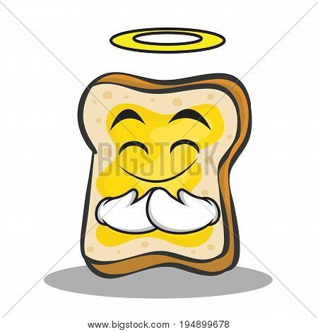 Innocent face bread character cartoon vector illustration