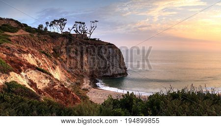 Sunset Over The Farthest South End Of Crystal Cove Beach