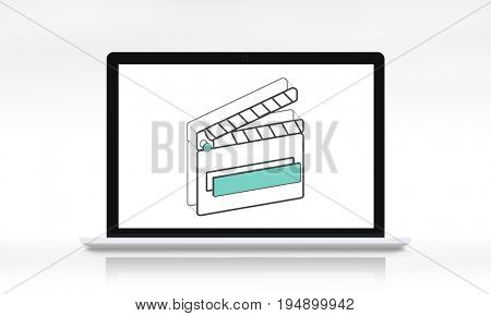 Movie Film Clapper Board Graphic