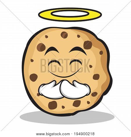 Innocent face sweet cookies character cartoon vector illustration