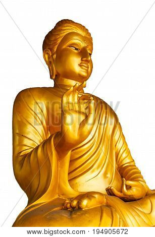 Buddha gold isolated on white a background